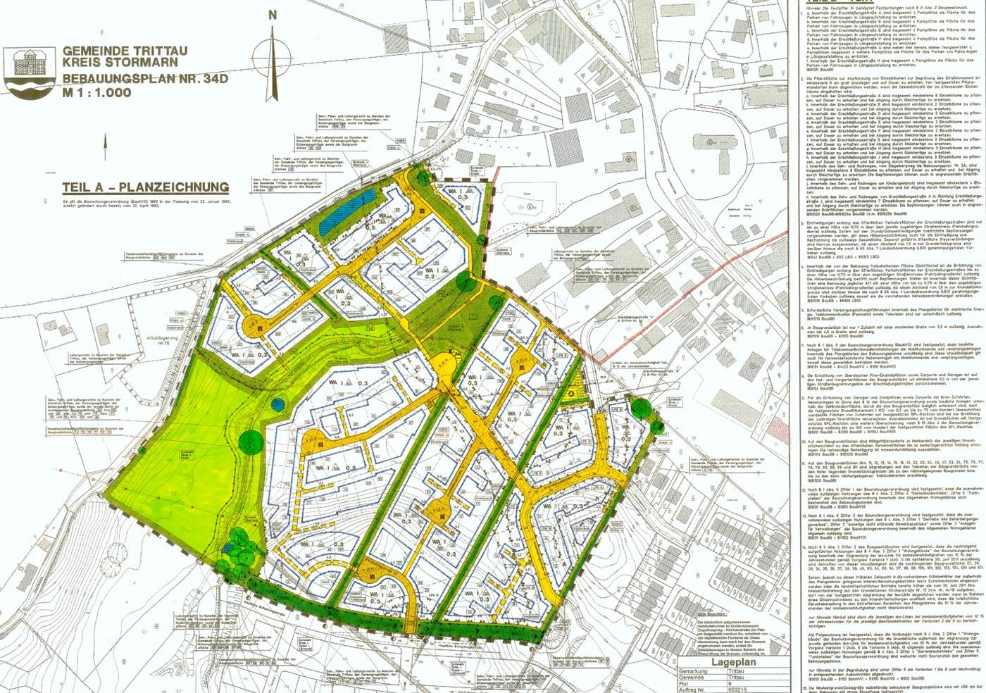 Planzeichnung Gemeinde Trittau - Bauland 24