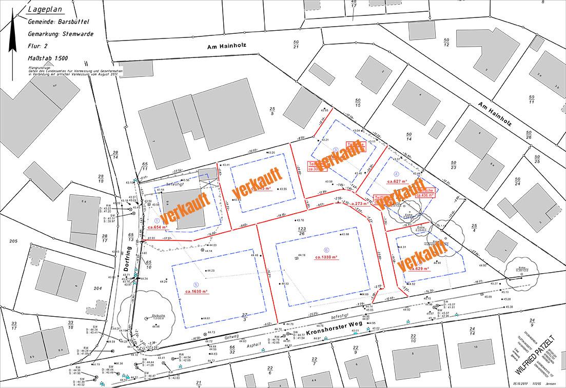 Lageplan Baugebiet Barsbüttel