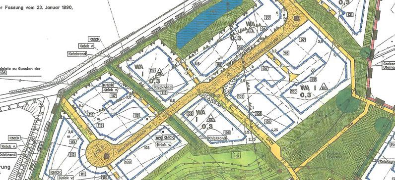 Ausschnitt B-Plan Gemeinde Trittau Bauland 24