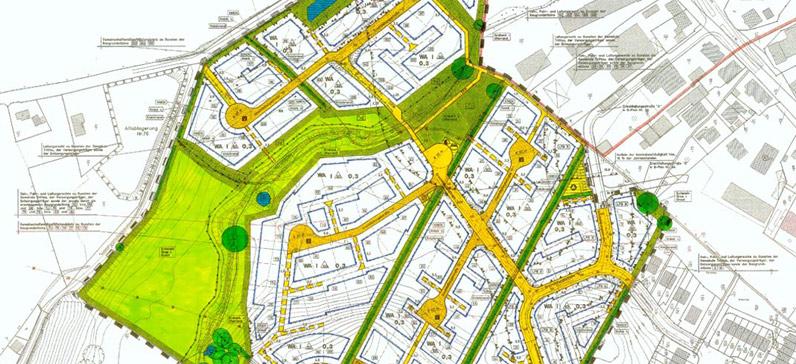 Bauplan - Planzeichnung, Gemeinde Trittau