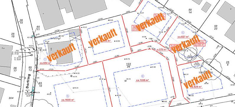 Lageplan - Baugebiet Barsbüttel
