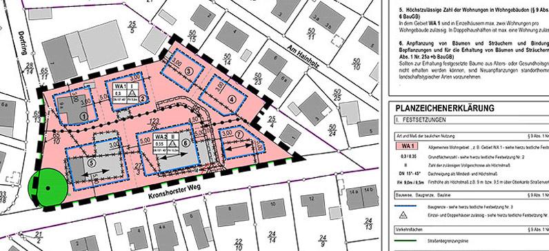 Planzeichnung Baugebiet Barsbüttel