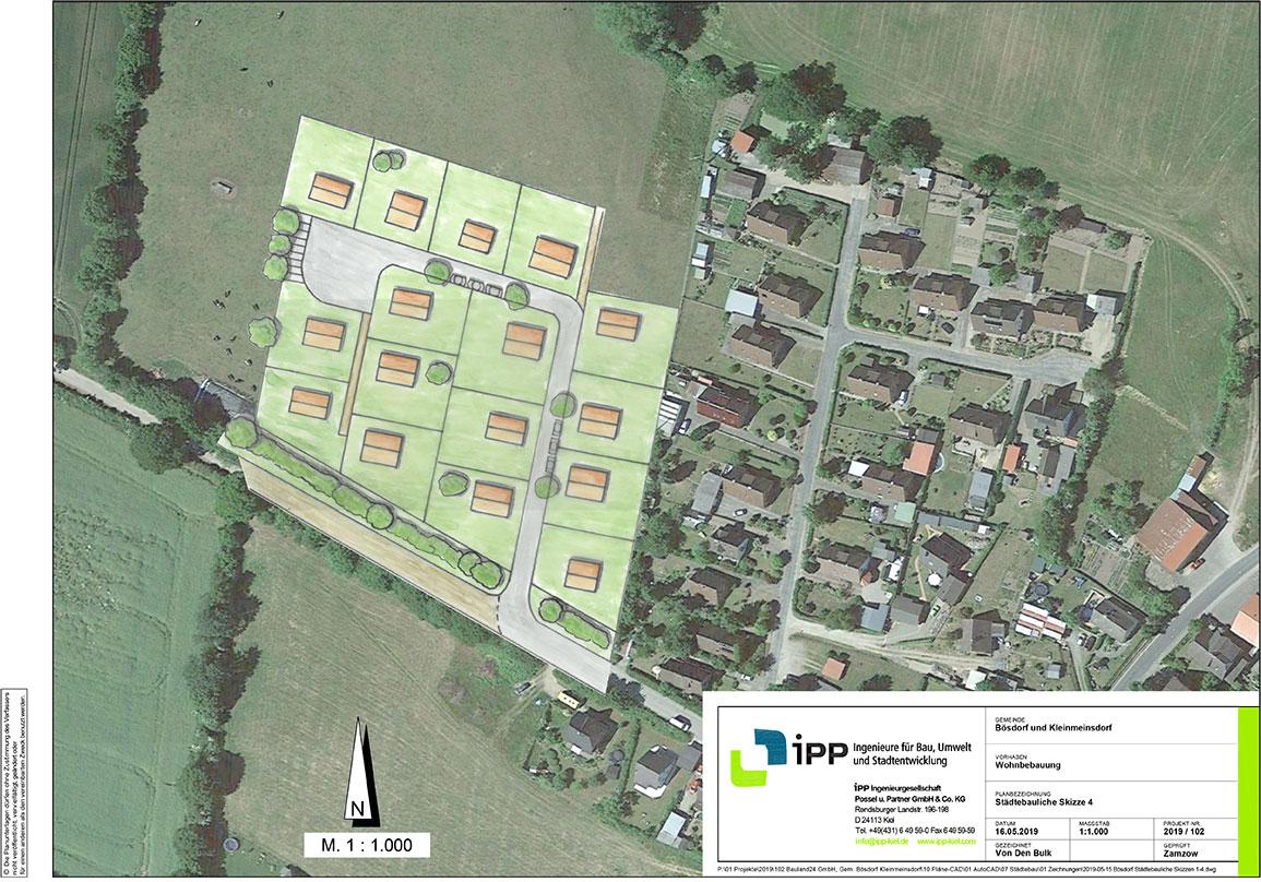 Planungsunterlage Bauland24 Gmeinde Bösdorf in Schleswig Holstein
